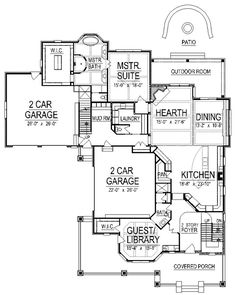 Craftsman House Plan 74417 Level One. Basement lacks natural light but the sewing room could have the room with the windows.