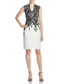 8e3f735820 Adrianna Papell Floral Sheath Dress Women - Bloomingdale s