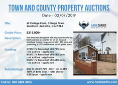 Town and County Property Auctions Date - Call Us: 020 3889 4403 Available Real Estate Uk, Bungalow, Auction, Dating, Let It Be, Quotes, Rambler House