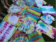 DIY tie dye