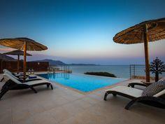 Antonoglou Beach Villa, Kiotari ***** Beach... - HomeAway Beach Villa, Home And Away, Beautiful Beaches, Villas, Swimming Pools, Greece, Patio, Outdoor Decor, House