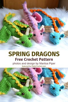 [Paid Pattern] Graceful Crochet Dragon Free Pattern To Bring Fantasy And Legend .[Paid Pattern] Graceful Crochet Dragon Free Pattern To Bring Fantasy And Legend To Life Dragon En Crochet, Crochet Dragon Pattern, Crochet Doll Pattern, Crochet Dolls, Crochet Gratis, Cute Crochet, Knit Crochet, Dishcloth Crochet, Crochet Humor