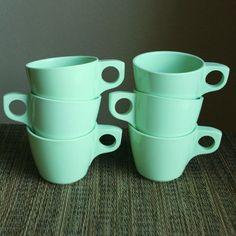 Mint Green Boonton Coffee Cups $15