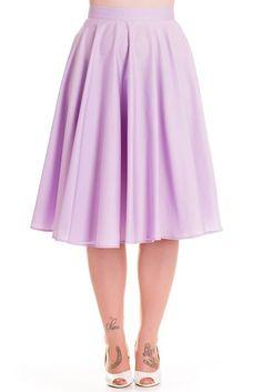 Hell Bunny Paula Lavender Skirt