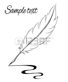 Feather Pen Tattoo, Tattoo Plume, Feather Drawing, Feather Tattoo Design, Feather Painting, Quill Tattoo, Pen Doodles, Pen Illustration, Logo