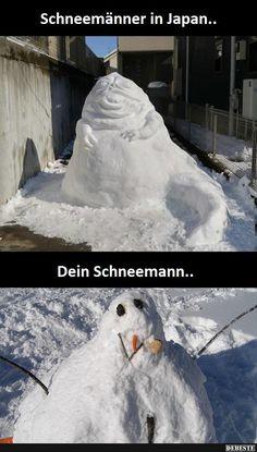 Schneemänner in Japan / dein Schneemann..   Lustige Bilder, Sprüche, Witze, echt lustig