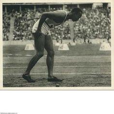 Berlin   Olympiastadion. Jesse Owens 1936 Olympischen Spiele. Leni Riefenstahl