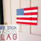 Paint Stir Stick USA Flag