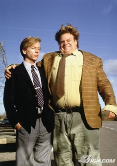Tommy Boy....  Tommy: I can't believe he called me a psycho.   Richard Hayden: You are a psycho... Good God. And comb your hair.