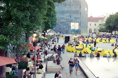 I love to hang out at MuseumsQuartier, Vienna in summer Film Photography, Vienna, Hanging Out, Places Ive Been, Destinations, To Go, Street View, Summer, Pictures