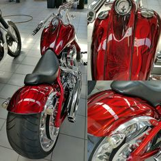 Our RAW metal finish with a apple red candy Airbrush Skull, Galaxy C, Sportster Chopper, Motorcycle Paint Jobs, Custom Paint Jobs, Red Candy, Bike Art, Red Apple, Harley Davidson
