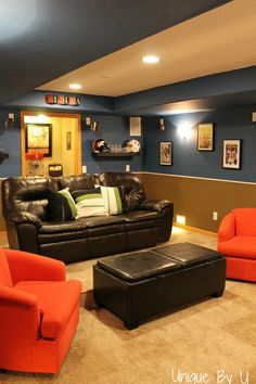 Home Theater Movie Room Done on a Budget  www.uniquebyu.blogspot.com