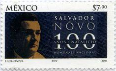 HOMENAJE NACIONAL 100 AÑOS NATALICIO SALVADOR NOVO, MÉXICO 2004
