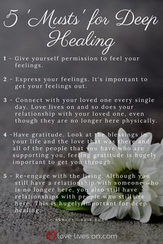 Ashley Davis Bush shares her 5 'Musts' For Deep Healing through the stages of grief.