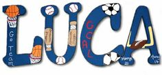 Luca Sports of Course Hand Painted Wall Letters