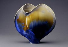Ginny Conrow   Envelope Vase series Ceramic Clay, Ceramic Painting, Ceramic Artists, Porcelain Ceramics, Ceramic Vase, Glazes For Pottery, Pottery Vase, Ceramic Pottery, Glazed Pottery