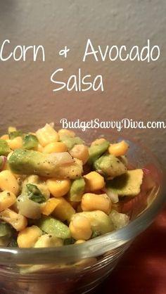 Corn and Avocado Salsa, #Avocado, #Corn, #Gluten, #Salsa