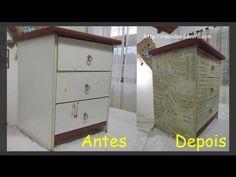 Decoupage com Papel em Móvel - YouTube
