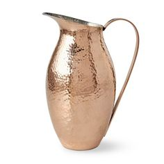 Hammered-Copper Pitcher #williamssonoma