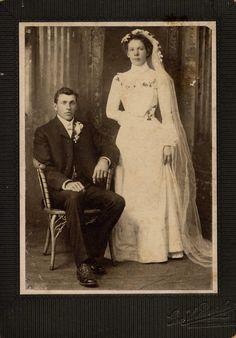 Antique Wedding Photo 4 X 6. $10.00, via Etsy.