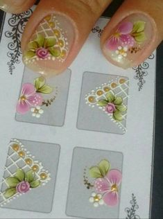 3d Nails, Cute Nails, Pretty Nails, Face Painting Flowers, Body Painting, Nail Designs Spring, Nail Art Designs, Magic Nails, Pedicure Designs