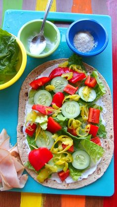 Vegetarian turkey wrap and other clean eating recipes