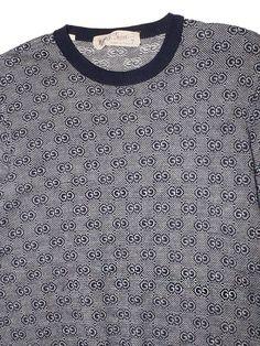 0490d5b2a Vintage 80's Gucci Cashmere Silk Signature Monogram Sweater Gucci Monogram,  Vintage Sweaters, Vintage 70s