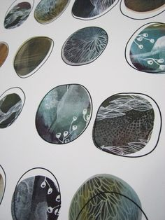 16 pebbles LAST PRINT in the edition by tsktsk on Etsy