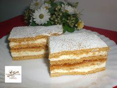 Receptek, és hasznos cikkek oldala: Mézes krémes Ital Food, Cake Slicer, Hungarian Recipes, Hungarian Food, Cake Cookies, Vanilla Cake, Christmas Cookies, Bakery, Goodies
