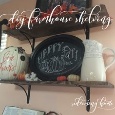 I adore farmhouse decor. It is clean, bright, and reminds me of a simpler time. A few months before we moved, my husband built a duo of farmhouse shelves for our dining room. I loved them, and hate…