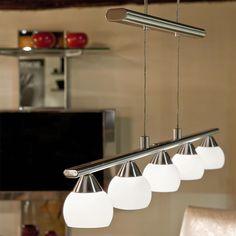 Design Hänge Decken Beleuchtung Ess Zimmer Tisch Pendel Lampe Glas klar IP20 E27