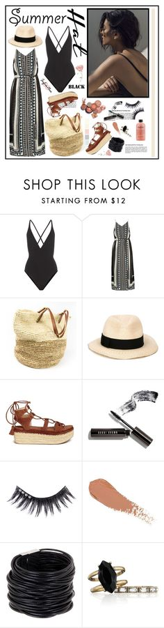 """Top It Off: Summer Hats"" by cindy88 ❤ liked on Polyvore featuring Proenza Schouler, River Island, Eugenia Kim, Stuart Weitzman, Bobbi Brown Cosmetics, Manic Panic NYC, Saachi, Chloe + Isabel and summerhat"