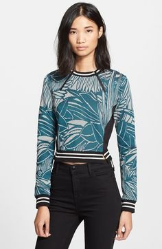 Veronica Beard Palm Jacquard Jersey Sweater available at #Nordstrom