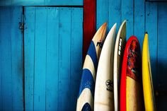 I need to learn to surf. Or just take some photos of surf boards like this.