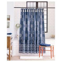 Batik Shower Curtain Indigo - Nate Berkus™ : Target