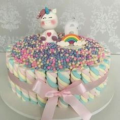 Torta Candy, Candy Cakes, Girly Cakes, Cute Cakes, Beautiful Cakes, Amazing Cakes, Fondant Cakes, Cupcake Cakes, Marshmallow Cake