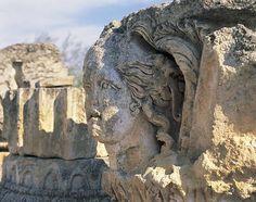 Closeup of a statue Canosa Di Puglia Puglia Italy