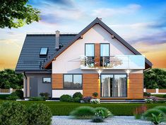 Zdjęcie projektu Galilea BIS WOK1065 Home Fashion, House Plans, Shed, Exterior, Outdoor Structures, Mansions, House Styles, Dream Houses, Home Decor