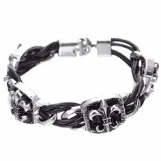 Cheap man jewelry accessories, Buy Quality men wristband directly from China steel bracelet men Suppliers: OBSEDE 2017 Arrive Vintage Punk Silver Color Stainless Steel Bracelet Men Wristband Leather Bracelets Men Jewelry Accessories