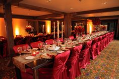 Are you seeing red? Gorgeous setting in Stein Eriksen Lodge Flagstaff Room. #steinweddings