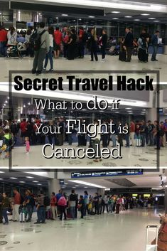 Stuck at the airport because your flight was canceled? Do what frequent fliers to do to get rebooked on another flight. Secret travel hack: what to do if your flight is canceled