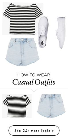 """Casual"" by aspyn-joelle on Polyvore featuring Topshop and Vans"