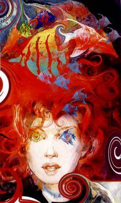 "The Sandman by Neil Gaiman; ""Delirium"" by Bill Sienkiewicz. Neil Gaiman, Illustrations, Illustration Art, Comic Books Art, Comic Art, Vertigo Comics, Endless Night, Comic Kunst, Art Graphique"