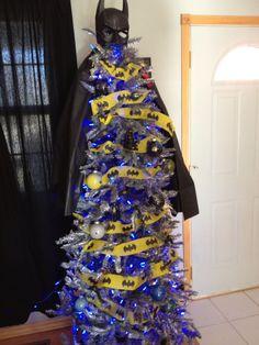 christmas tree decorated like batman | Batman Christmas tree | BATMAN              How David Whitfield wanted to decorate the tree.