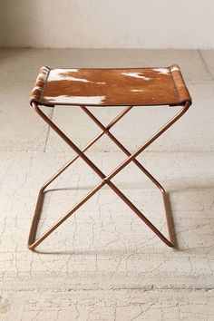 Cow Hide Folding Sling Stool - Urban Outfitters