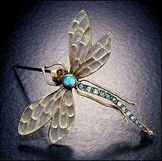 Art Nouveau dragonfly Jewelry
