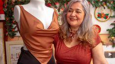 Top con escote drapeado Super lindo y muy fácil de hacer: en 20 minutos, molde , corte y confección! - YouTube Sewing, Womens Fashion, Clothes, Black, Dresses, Diy, Sewing Projects, Tips And Tricks, Amor