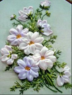 Yasmin ribbon flower
