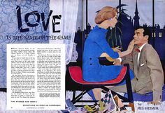 Good Housekeeping magazine Illustrated by Al Parker March 1957