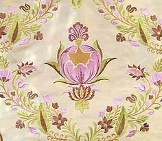 Embroidered, Shot Silk Fabric